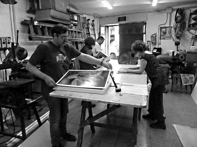 Stefano working
